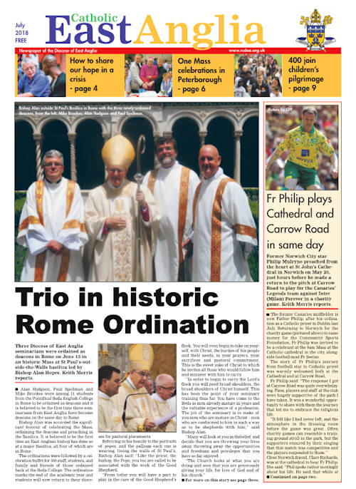 Download the latest version of Catholic East Anglia newspaper